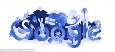 Google Doodle elaborado con motivo del centenario de la indpendencia de Finlandia