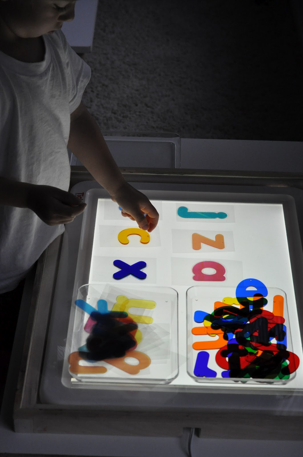 Diy Light Panel Letter Cards Activities For Children