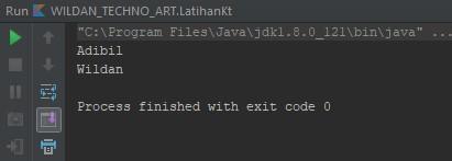 Screenshot penggunaan fungsi remove pada HashSet