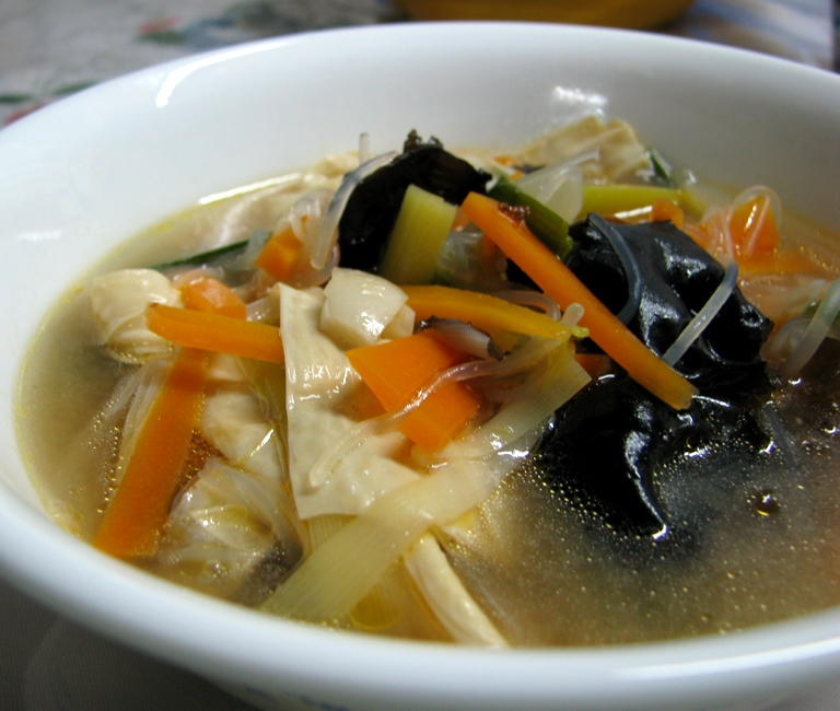 Vegetables With Dried Bean Curd Soup Asiadeli