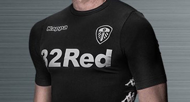 1121407d9 The new Leeds United Away kit features a stunning all-black design with a  silver tonal emblem.