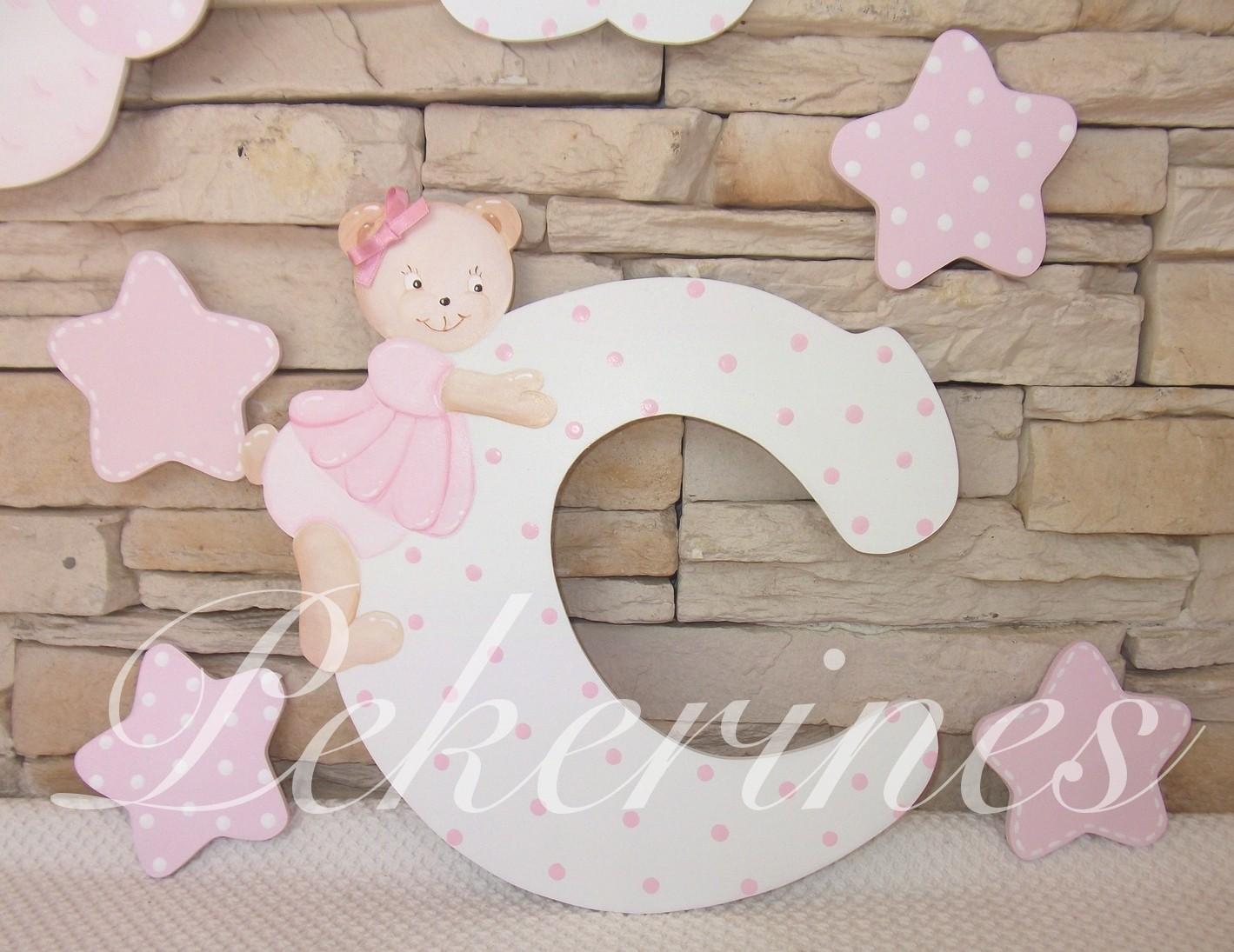 decoraci n infantil pekerines letras para habitaci n beb