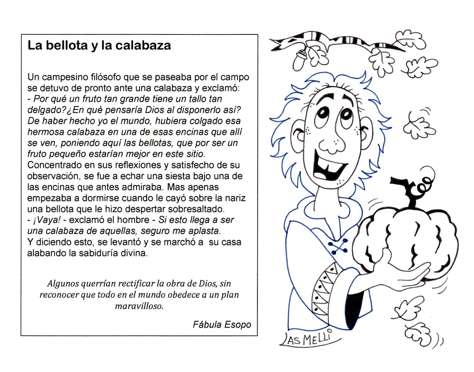 El Rincón de las Melli: FÁBULA: La bellota y la calabaza (para ...