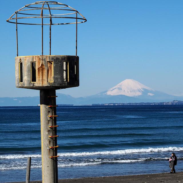 岩井海岸 富士山