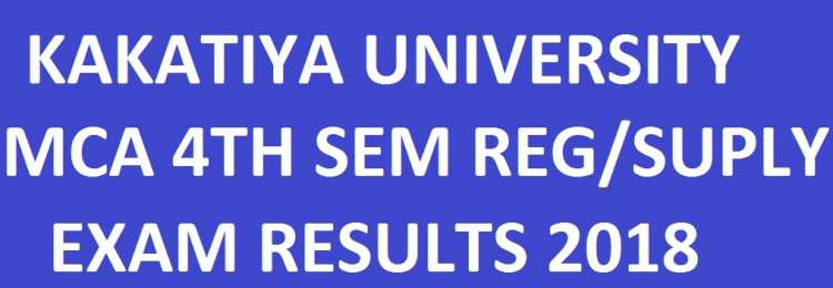 Kakatiya University MCA 4th Sem Reg/Supply EXAM Results