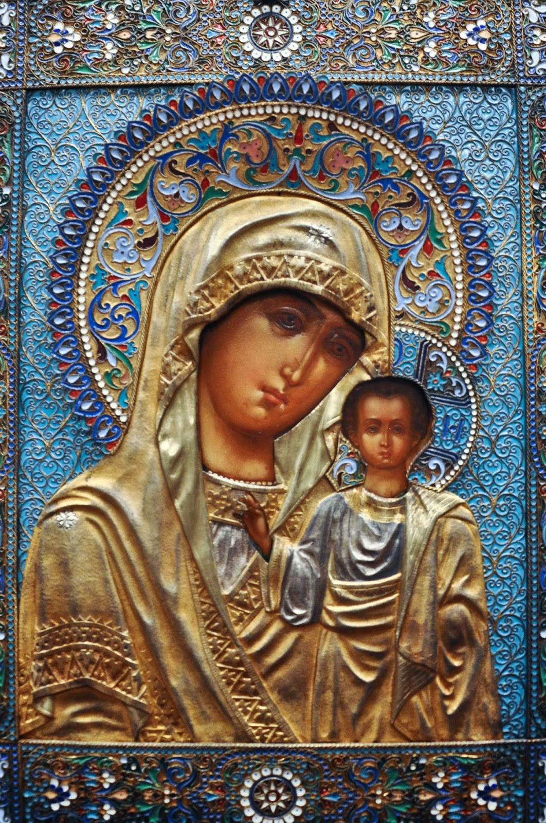 A Russian icon with an enamel covering, Gallerie d'Italia, Palazzo Leoni Montanari, Vicenza, Italia
