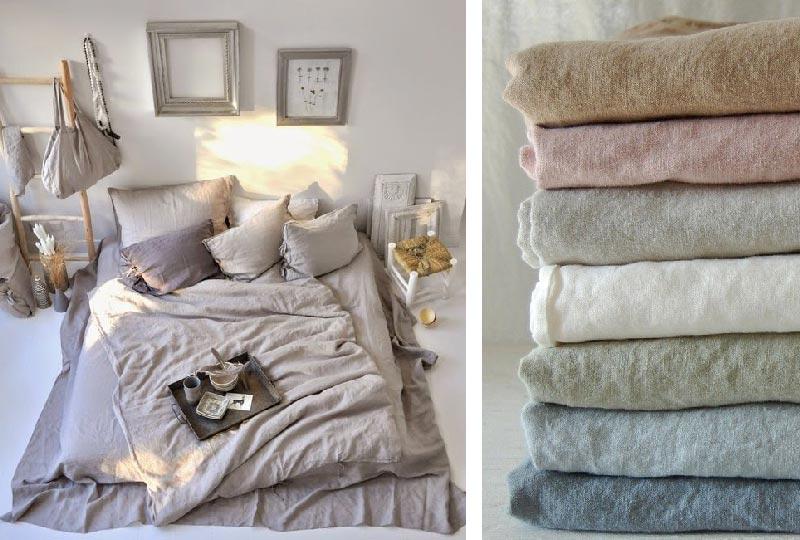 tessile letto lino