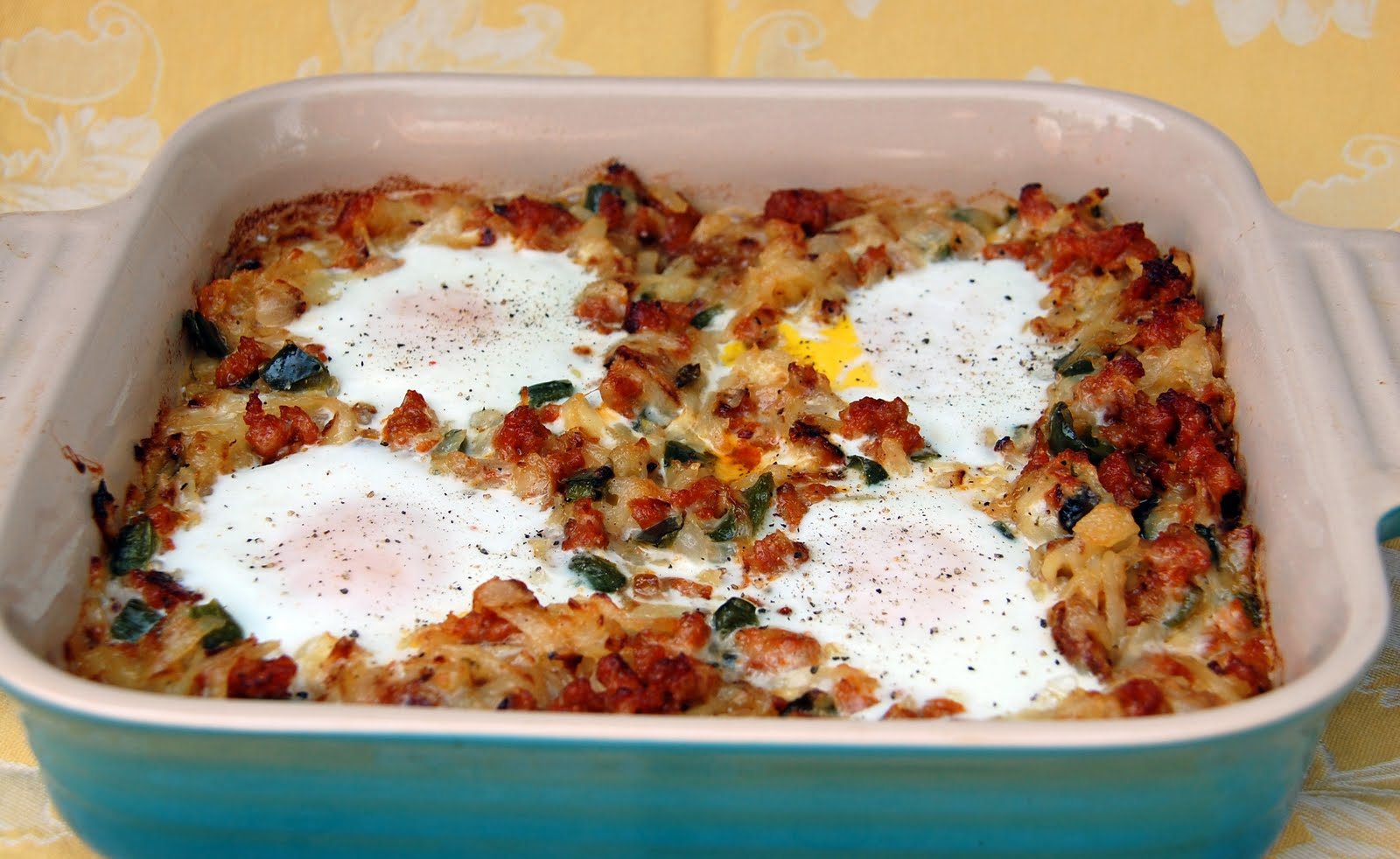Southern Lady S Recipes Hash Brown Eggs With Chorizo And