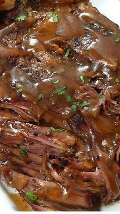 Slow Cooker {Melt in Your Mouth} Pot Roast