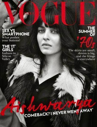 Vogue Magazine march 2015 editon, Aishwarya rai bachchan, Aishwarya Rai on Vogue magazine cover page