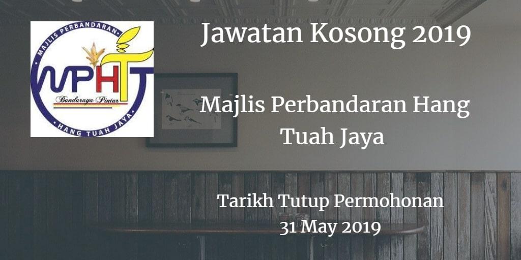 Jawatan Kosong MPHTJ 31 May 2019