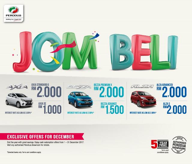 Promosi Perodua Bulan December 2017 - Promosi Perodua Akhir Tahun 2017