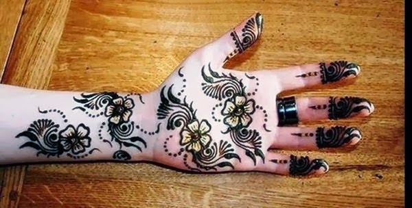 Simple Mehndi Designs For Hands 2014