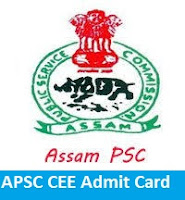 APSC CEE Admit Card