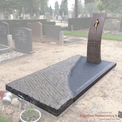 grafsteen brons, grafmonument met brons
