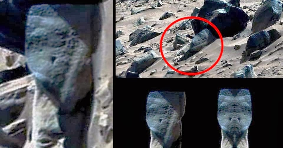 Ancient remains on Mars: Head of animal figure with horns ... |Mars Unexplained Anomalies