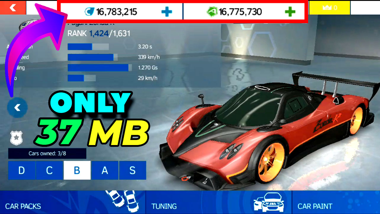 asphalt nitro unlimited credits and tokens mod apk