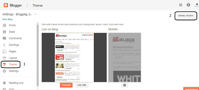 Installing Template - Responsive Blogger Template Sora Free Download - Edited for Mobile by AKBlogs