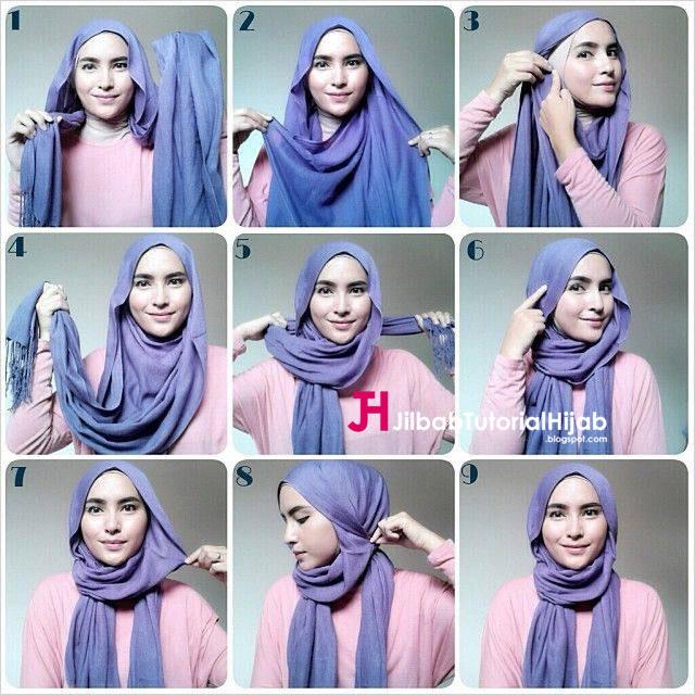 Kumpulan Gambar Tutorial Cara Memakai Hijab Style Mudah