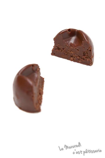 Bouchées croquantes chocolat et pralinoise