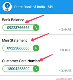 Sbi bank balance check, mini statement and customer care mobile number