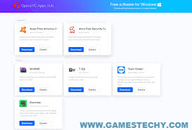 Opera PC Apps Hub free pc software