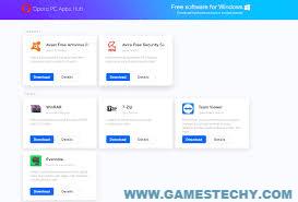 Opera PC Apps Hub free pc software