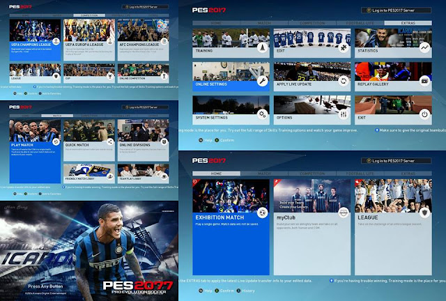 PES 2017 Graphic Menu Inter by HanSong