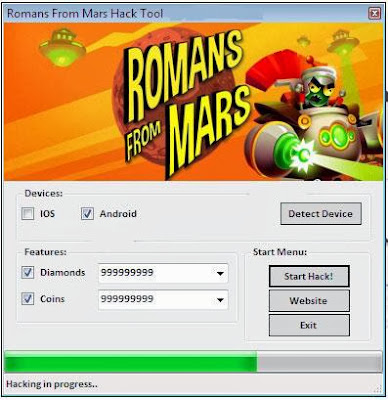 Download Free Romans From Mars (All Versions) Hack Unlimited Coins,Diamonds 100% working and Tested for IOS and Android MOD.