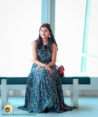 Anamika Chattopadhyaya wearing LOV Floral Print Maxi Dress at Sky 100 Hong Kong, fashion blogger, NBAM blog