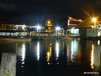 Bocas Town by night, Bocas del Toro, Panamá