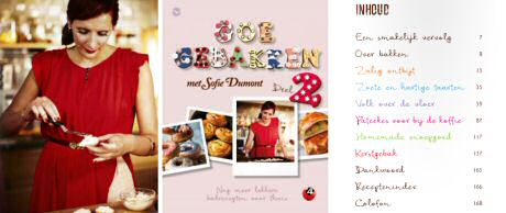 Inkijkexemplaar en inhoud van kookboek Goe Gebakken 2 van Sofie Dumont