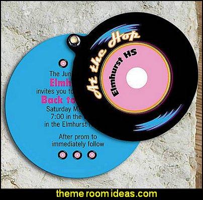 Vinyl 45 Invitation