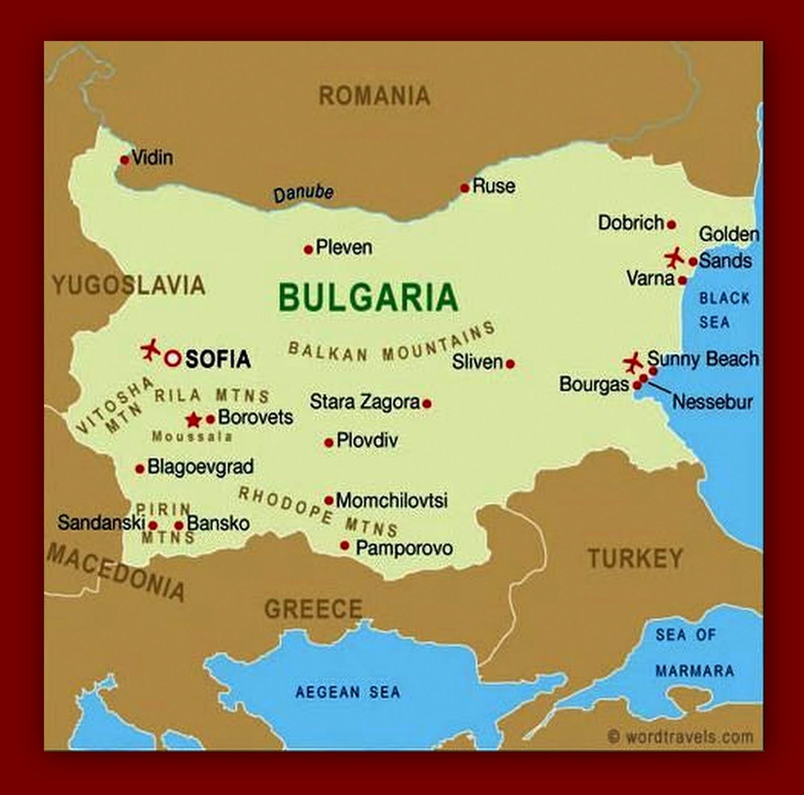 karta bugarske Kao na dlanu : Moj vodič kroz Sofiju (I deo) karta bugarske