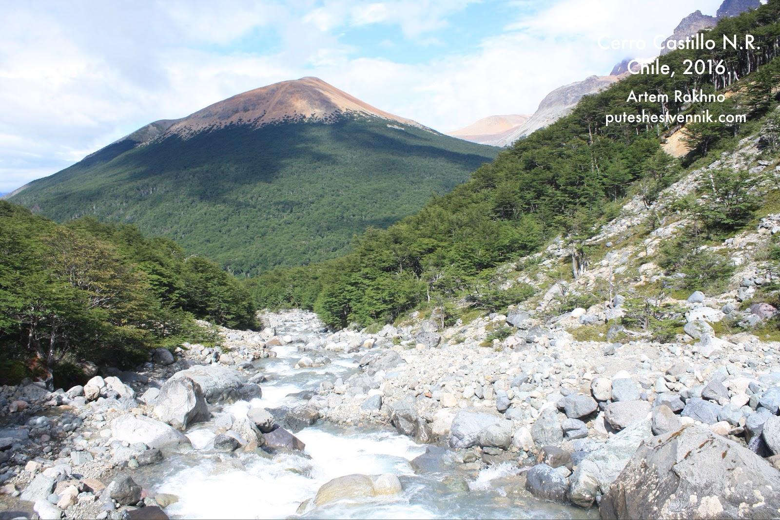 Бурная река в Чили