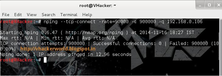 Denial-of-service Attack – DOS using hping3 with spoofed IP in Linux