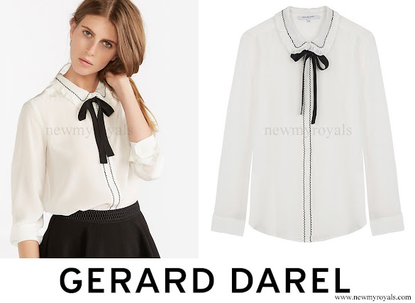 Kate Middleton wore Gerard Darel Josephine Blouse