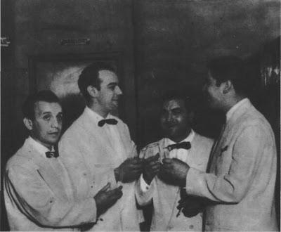 Roberto Rufino, Armando Pontier, Enrique Francini y Raul Beron en 1947