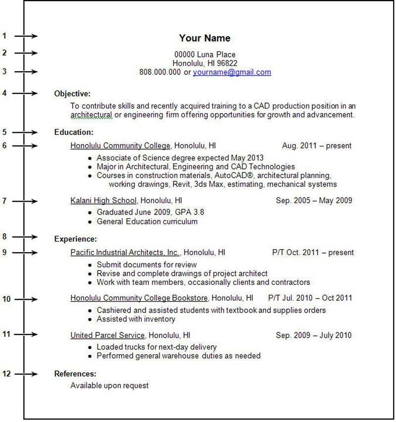 Examples Of Resumes For College Students | Resume Examples And