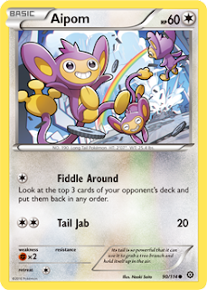 Aipom Steam Siege Pokemon Card