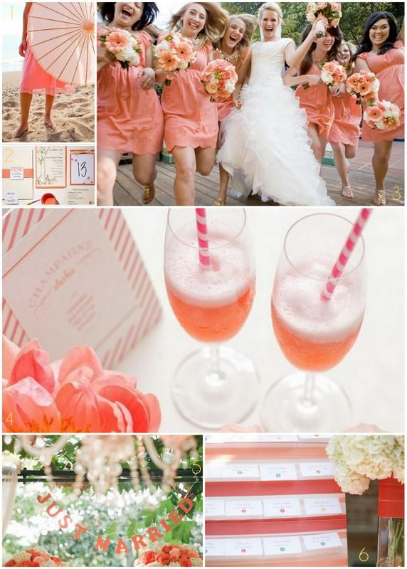 Champagne and coral decor please