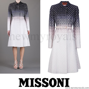 Crown Princess Mary wore MISSONI Belted Coat