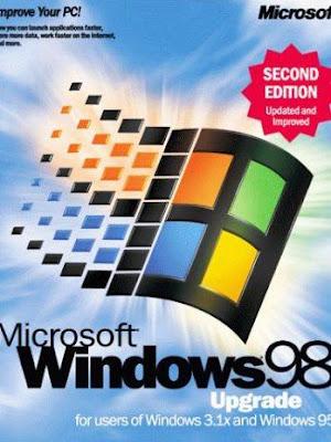 embalagem do Windows 98