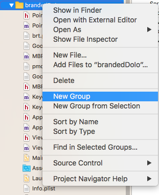 Adding a Subfolder in XCode project | Tarika's Developer Blog