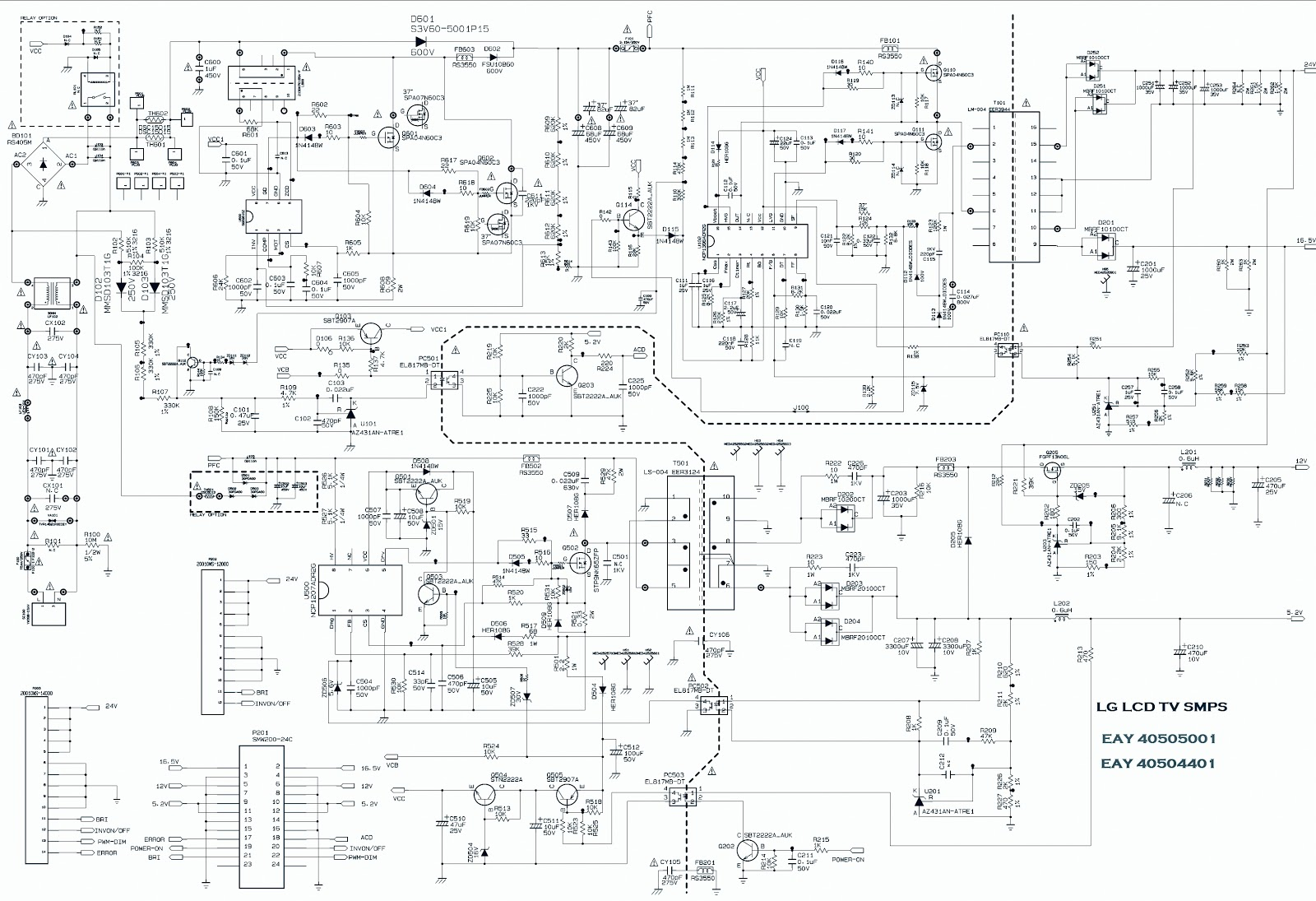 LG LCD TV SMPS SCHEMATIC  EAY40504401  EAY40505001