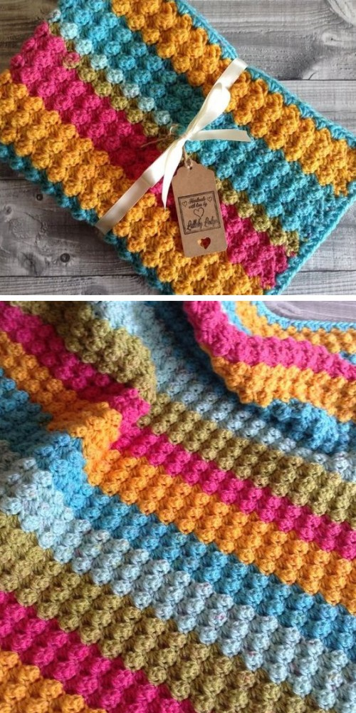 Bubbles Yarn Cakes Baby Blanket - Free Pattern
