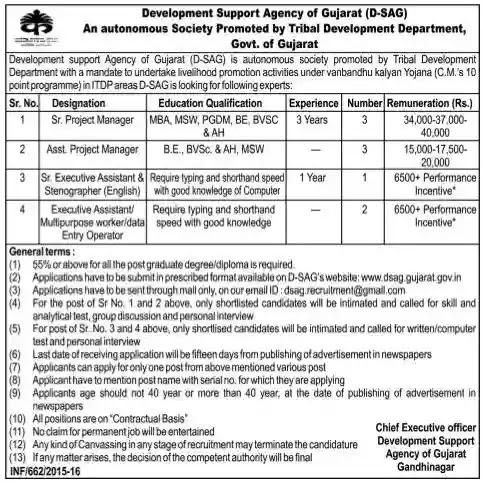Development Support Agency of Gujarat (D-SAG)