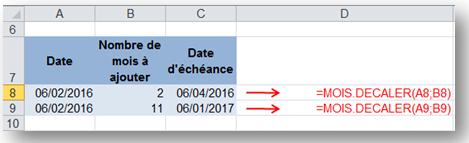 sb astuces - Excel - ajouter des mois à une date