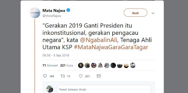 #2019GantiPresiden Inkonstitusional, Fadli Zon: Ngabalin Nggak Ngerti Demokrasi