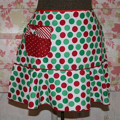 Festive Apron w/ Boutique Style Pocket